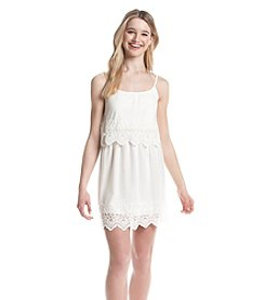 Trixxi® Crochet Popover Dress