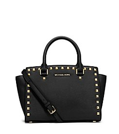 MICHAEL Michael Kors® Selma Medium Studded Leather Satchel