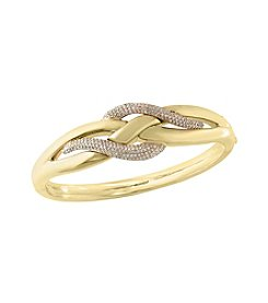 Effy® .95 Ct. T.W. Diamond Bangle In 14k Yellow Gold