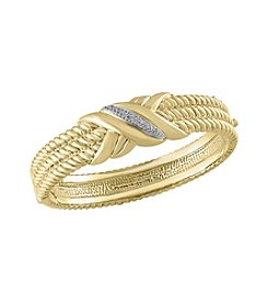 Effy® .15 Ct. T.W. Diamond Bangle In 14k Yellow Gold