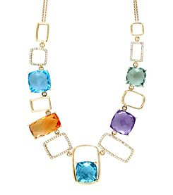 Effy® Mosaic Collection .55 ct. tw. Diamond And Multi Gem Necklace In 14K Yellow Gold