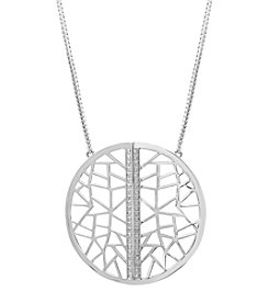 Effy® Balissima Collection .18 ct. tw. Diamond Pendant In Sterling Silver