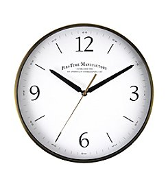 FirsTime Goldtone Metal Wall Clock