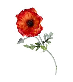 LivingQuarters Botaical Collection Poppy Stem