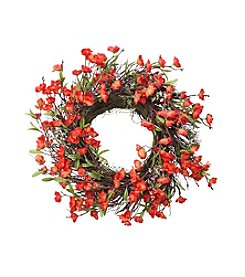 LivingQuarters Botanical Collection Orange Blossom Wreath