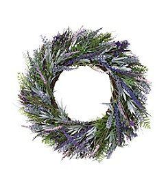 LivingQuarters Botanical Collection Lavender Wreath