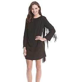 Kensie® Crepe Fringe Dress