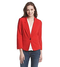 Kensie® Crepe Single Button Blazer