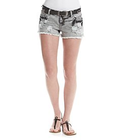 Hippie Laundry Destructed Denim Shorts