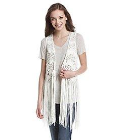 Hippie Laundry Fringe Crochet Vest