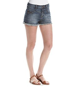 Hippie Laundry Frayed High Waist Shorts