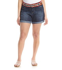 Wallflower® Plus Size Americana Belted Denim Shorts