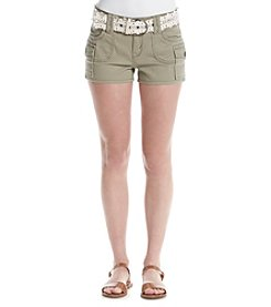 Wallflower® Belted Twill Shorts