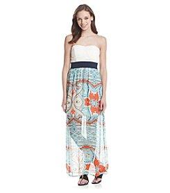 Trixxi® Printed Crochet Dress