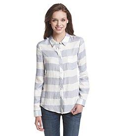 Pink Rose® Stripe Button-Up Shirt