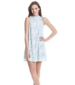 Be Bop Paisley Print A-Line Dress