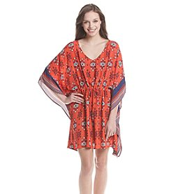 Be Bop Printed Kimono Dress
