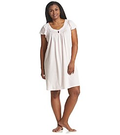 Miss Elaine® Plus Size Short Sleeve Nightgown