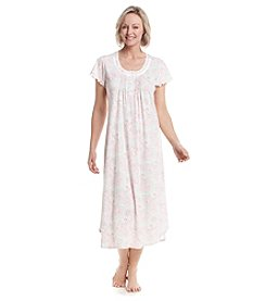 Miss Elaine® Long Printed Night Gown