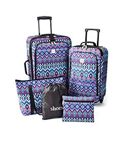 Relativity® Back-to-School Print Expandable 5-pc. Luggage Set