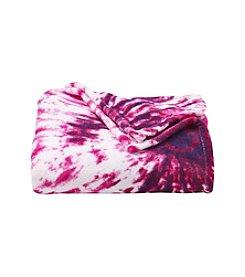 LivingQuarters Pink Tie-Dye Micro Cozy Throw