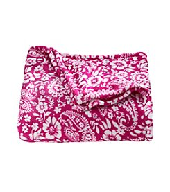 LivingQuarters Pink Paisley Micro Cozy Blanket