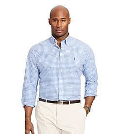 Polo Ralph Lauren® Men's Big & Tall Checked Poplin Long Sleeve Shirt