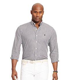 Polo Ralph Lauren® Men's Big & Tall Striped Poplin Long Sleeve Shirt