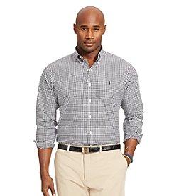 Polo Ralph Lauren® Men's Big & Tall Gingham Poplin Long Sleeve Shirt