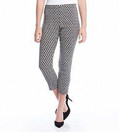 Karen Kane® Diamond Print Cropped Pants