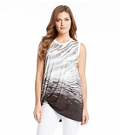 Karen Kane® Ombre Graphic Top