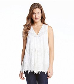 Karen Kane® Embroidered Lace Top