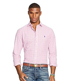 Polo Ralph Lauren® Men's Checked Poplin Long Sleeve Button Down Shirt