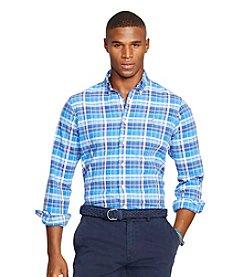 Polo Ralph Lauren® Men's Plaid Oxford Long Sleeve Button Down Shirt