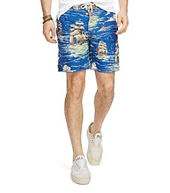 Polo Ralph Lauren® Men's Ship Print Palm Island Swim Trunks