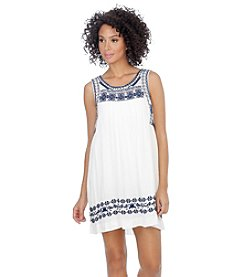 Lucky Brand® Embroidered Tank Dress