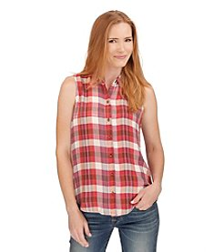 Lucky Brand® Sleeveless Plaid Top