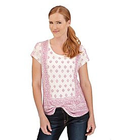 Lucky Brand® Short Sleeve Geometric Printed Tee