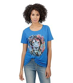 Lucky Brand® Short Sleeve Lion Tee