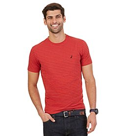 Nautica® Men's Short Sleeve Stripe Crew Neck Tee
