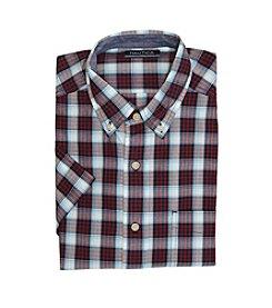 Nautica® Men's Short Sleeve Medium Plaid Pocket Button Down Shirt