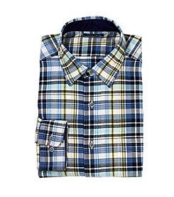 Nautica® Men's Long Sleeve Plaid Oxford Button Down Shirt