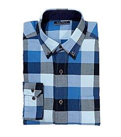Nautica® Men's Long Sleeve Buffalo Plaid Oxford Button Down Shirt