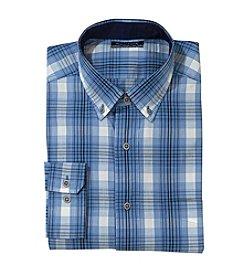 Nautica® Men's Long Sleeve Slub Plaid Button Down Shirt