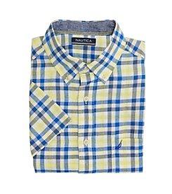 Nautica® Men's Short Sleeve Plaid Pocket Button Down Shirt