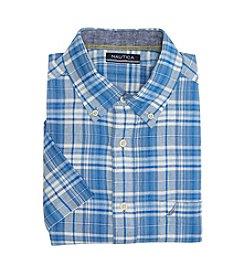 Nautica® Men's Short Sleeve Pocket Button Down Shirt