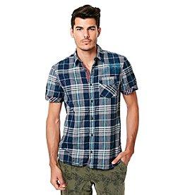 Buffalo by David Bitton Men's Short Sleeve Plaid Button Down Shirt