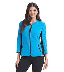 Kasper® Contrast Zipper Blazer