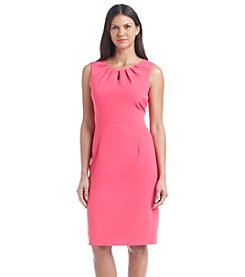 Kasper® Sleeveless Crepe Sheath Dress