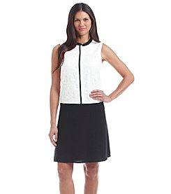 Nine West® Sleeveless Lace Combo Dress